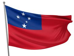 samoa national flag - stock illustration