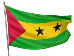 sao tome and principe national flag - stock illustration