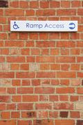ramp access sign - stock photo