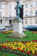 edward adrian wilson statue - stock photo
