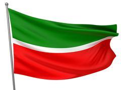 Stock Illustration of tatarstan national flag