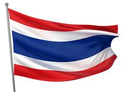 Stock Illustration of thailand national flag