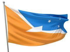 Tierra del fuego province (argentina) flag Stock Illustration