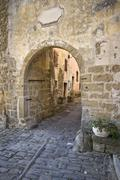 The medieval city gate of Groznjan - stock photo