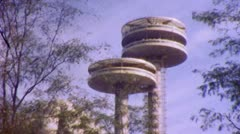 New York USA WORLD's FAIR  Observation Tower 1964 (Vintage Film Home Movie) 5636 - stock footage