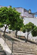 Sao miguel stairs in alfama Stock Photos