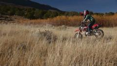 Kid on motorcycle HD9283 - stock footage