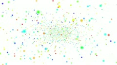Flickering Particles, random motion of particles, Loopable Stock Footage