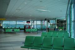 new and modern airport terminal - stock photo