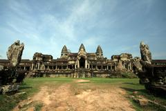 Angkor Wat before sunset Stock Photos