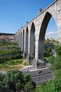Aqueduct of free waters in lisbon Stock Photos