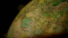 Globes rotates - stock footage