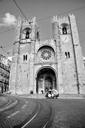 Stock Photo of church (sé) in lisbon, portugal