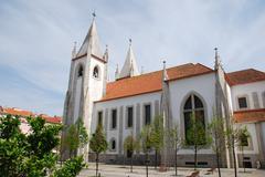 santo condestável church - stock photo