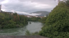 River Neretva in Mostar Stock Footage