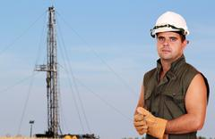 oil worker.jpg - stock photo