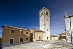 Stock Photo of Square in Oprtalj