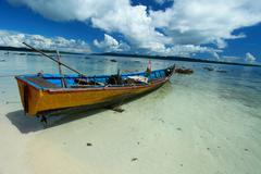 Blue sky and clouds in havelock island. andaman islands, india Stock Photos
