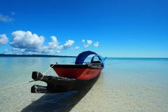 blue sky and clouds in havelock island. andaman islands, india - stock photo