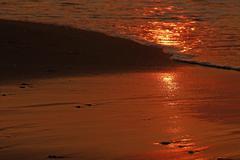 Sunrise water sands Stock Photos