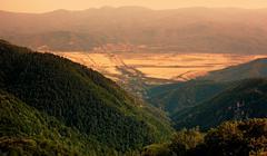Sunset Mountains Hills Stock Photos