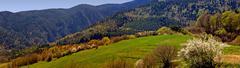 Spring mountain panorama Stock Photos