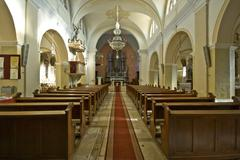 Pican church interior Stock Photos