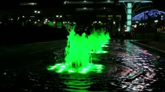 Fountain by Casino Stock Footage