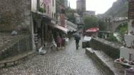 Stock Video Footage of Mostar Old Town Street