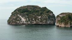 Los Arcos National Marine Park Puerto Vallarta Mexico boat HD 4016 Stock Footage