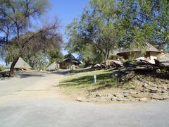 daan viljoen park. bungalows - stock photo