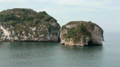 Los Arcos National Marine Park Puerto Vallarta Mexico pan HD 4024 Stock Footage