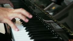 Detail of pianist hand - stock footage