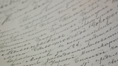 Russian old document - handwritten in Cyrillic 2 Stock Footage
