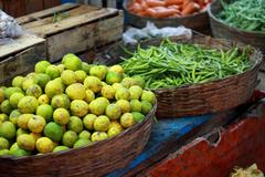 Stock Photo of various fruits at local market in india
