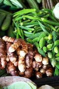 Various vegetables at vegetable market. india Stock Photos