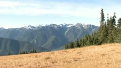 P02338 Olympic Mountains in Washington State Stock Footage