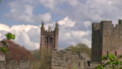 Ludlow Castle and St Laurence's Church, Ludlow Stock Footage