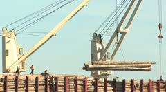 P02344 Exporting Logs on Ship Stock Footage