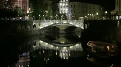 City of europe by night Stock Footage