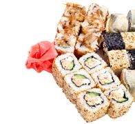 sushi roll set - stock photo