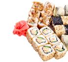 Sushi roll set Stock Photos