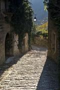 Beautiful stony street in Zavrsje Stock Photos