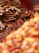 Stock Photo of traditional spices and dry fruits in local bazaar in india.