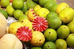 fresh fruit market in india - stock photo