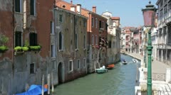 Venice architecture and gondola Stock Footage