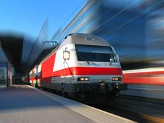 High speed train in motion - stock illustration