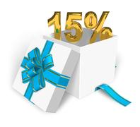 15% discount concept Stock Illustration