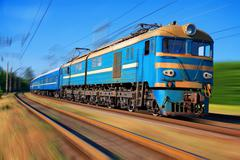 High speed passenger train Stock Photos