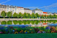 Belvedere Garden in Vienna, Austria - stock photo
